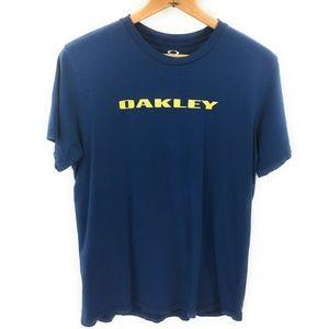 Oakley Mens Dark Blue Graphic T-Shirt,  L